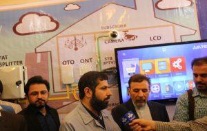 وزیر ارتباطات، استاندار خوزستان و مهندس زنگنه، مدیر عامل شرکت رهیاب ارتباط پارس
